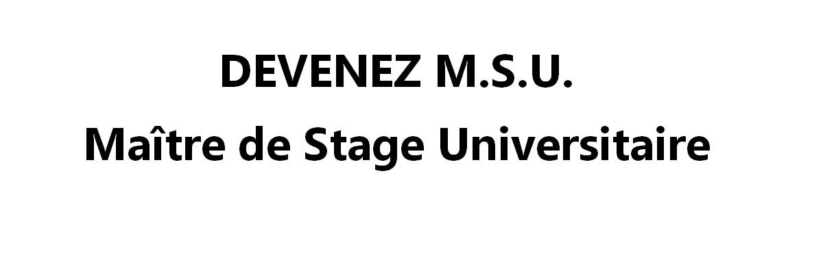 Devenez MSU